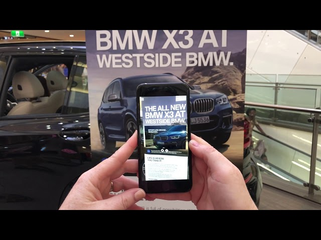 BMW X3 augmented reality banner