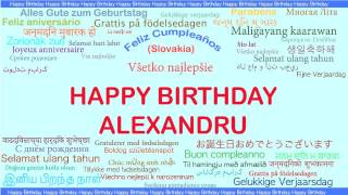 Alexandru   Languages Idiomas - Happy Birthday