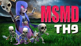 THREE STAR ANY TOWNHALL 9!! MSMD Guide ULTIMATE TH9 WAR ATTACK | Clash of Clans