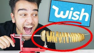 Testing 5 WEIRD FOOD GADGETS From WISH.COM! Unboxing WISH Products!
