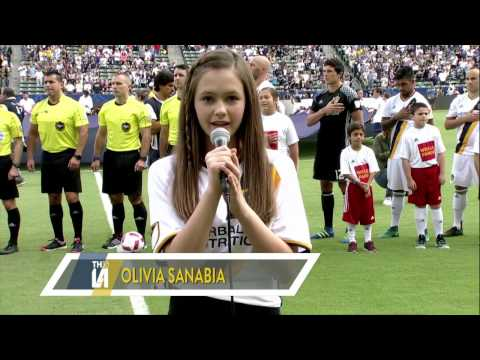 National Anthem LA Galaxy GameOlivia Sanabia