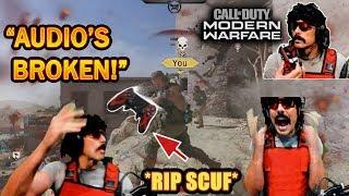 DrDisrespect BREAKS & THROWS his Scuf Controller in RAGE at COD Modern Warfare's BAD Audio! (Beta)
