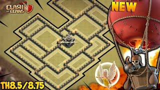 NEW TOWN HALL 8.5/8.75 WAR BASE 2018! TH8.5/8.75 ANTI 3 STAR WAR BASE UPDATED!! -CLASH OF CLANS(COC)