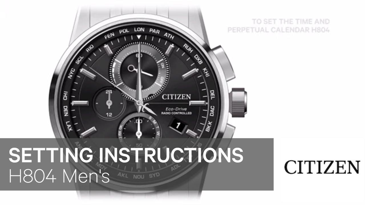Citizen Watch Setting Instructions H804 Men S Youtube