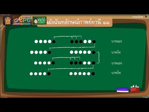 การแต่งกาพย์ยานี ๑๑ - สื่อการสอน ภาษาไทย ป.6