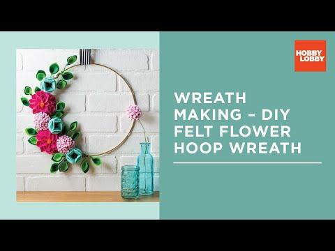 How To: Wreath Making – DIY Felt Flower Hoop Wreath | Hobby Lobby®