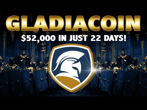 GladiaCoin – How You Turn $84 In BitCoin To $52,000 In 22 Days (English)