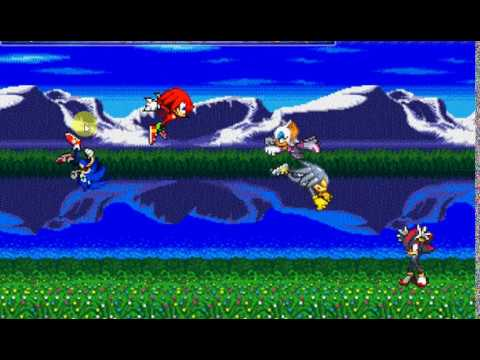 Sonic Tails And Knuckles Vs Shadow Rouge And ???