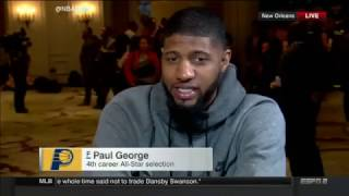 Paul George Full NBA All Star Media Day Interview 2017
