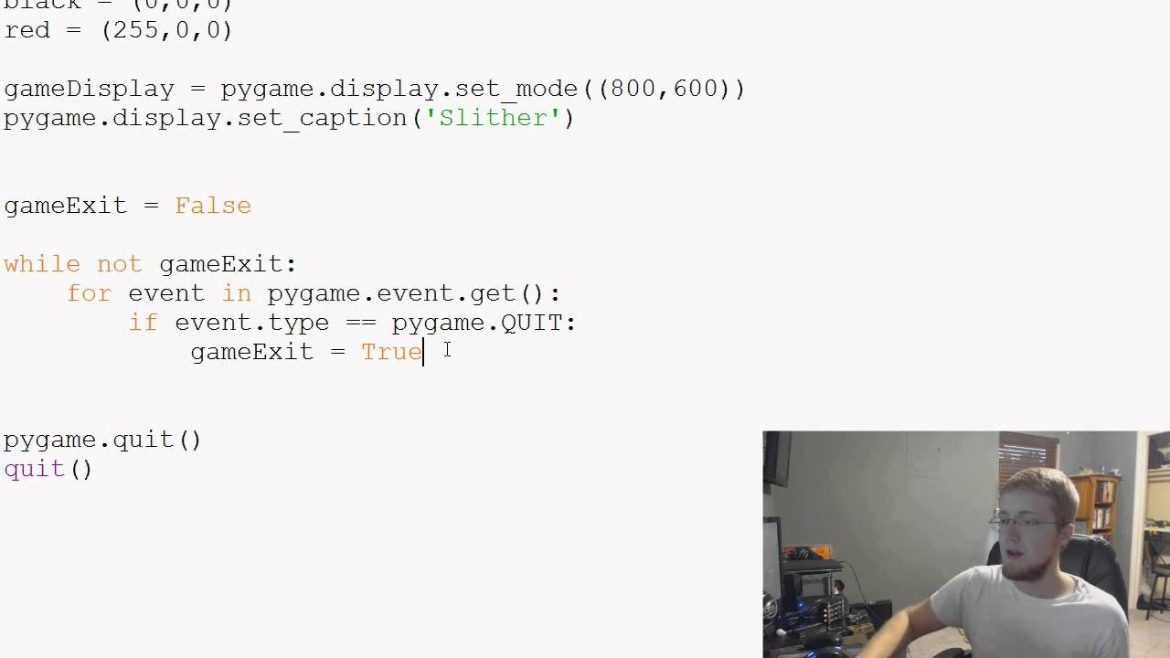 Pygame (Python Game Development) Tutorial - 5 - Colors and Fill