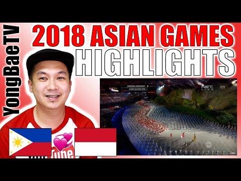 REACTION   HIGHLIGHTS Opening Ceremony Asian Games 2018 Jakarta - Palembang   YongBaeTV