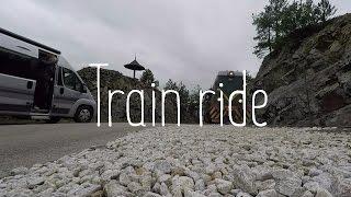 Mokra Gora choo-choo train in idyllic Serbian countryside