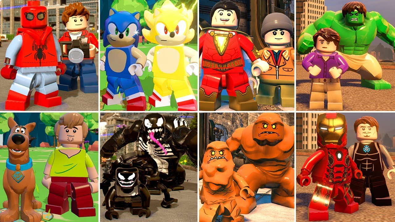 All Character Transformations and Suit Ups in LEGO Videogames