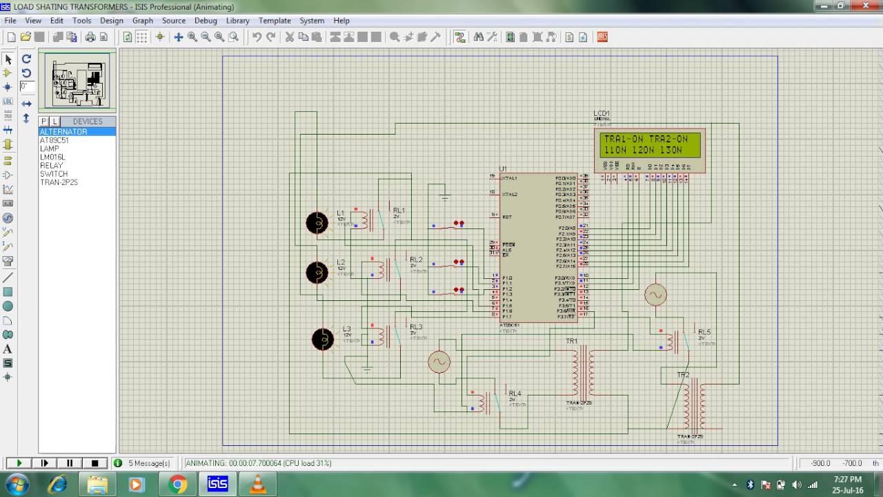 Load Sharing Transformer Code Proteus Design Youtube