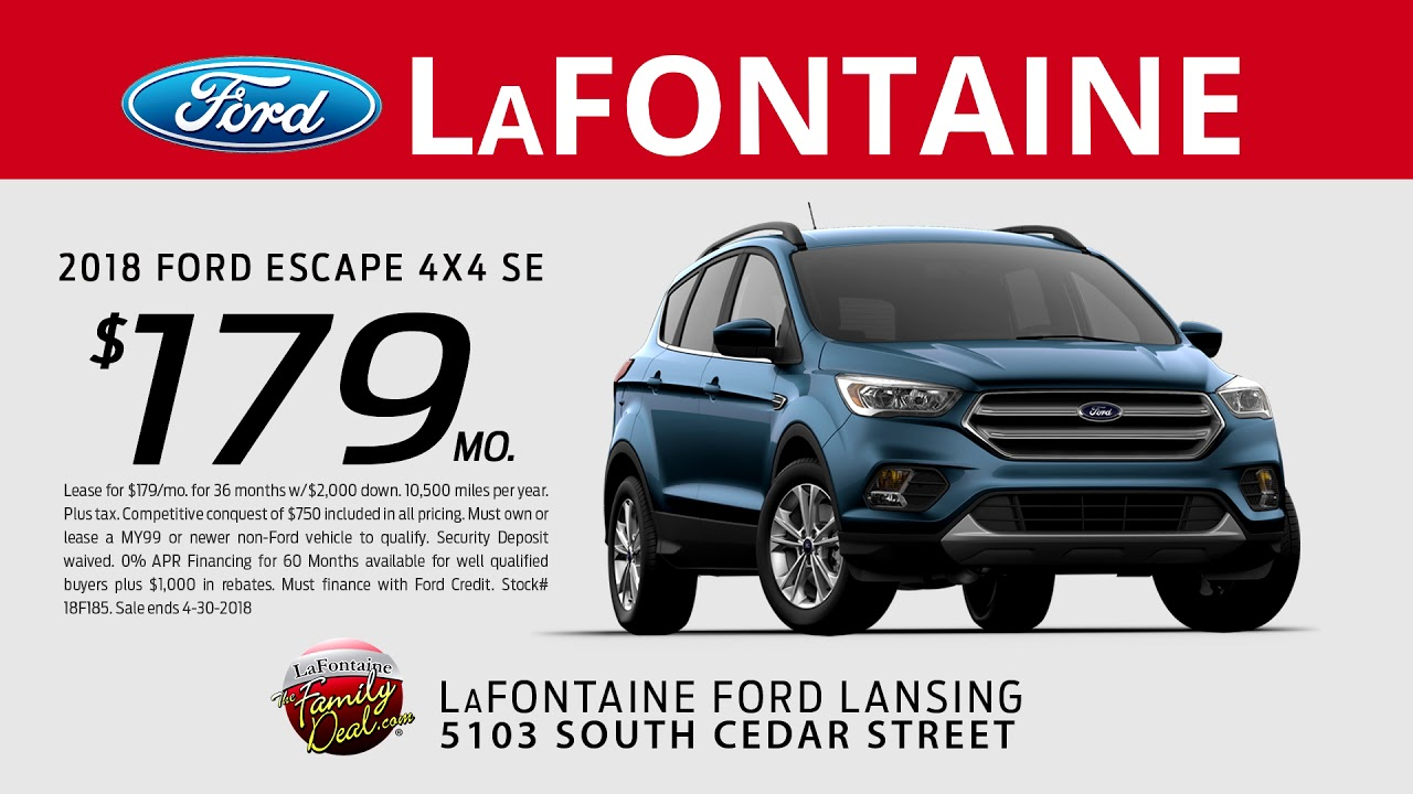 Lafontaine Ford Lansing >> Lafontaine Ford Of Lansing Spring Into Savings 2018 Ford Escape Se