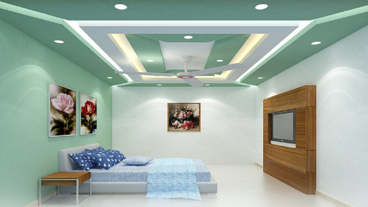 Latest gypsum ceiling designs 2018 false ceiling decorations for living and bedroom youtube for The living room drop in center