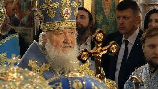 Патриарх Кирилл возглавил литургию в Минске
