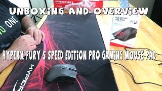 Hyperx Fury S Speed Edition Pro Gaming Mouse Pad - Unboxing