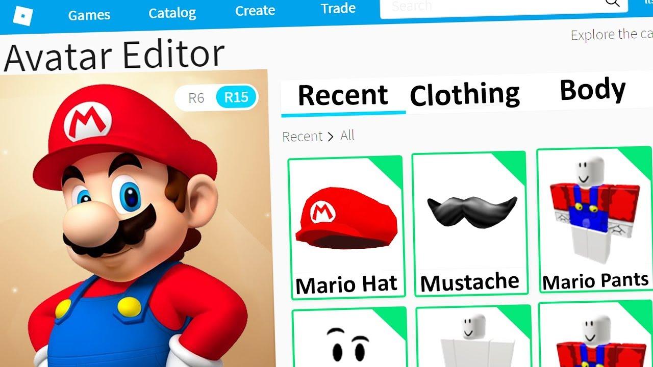 Making Mario A Roblox Account Youtube