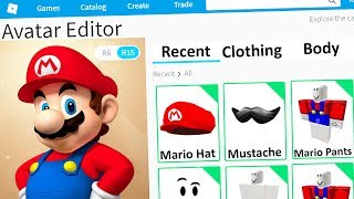 MAKING MARIO A ROBLOX ACCOUNT