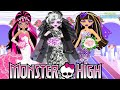 Monster High Cute Bride - Draculaura Lagoona Cleo Abbey Clawdeen Dress Up Game