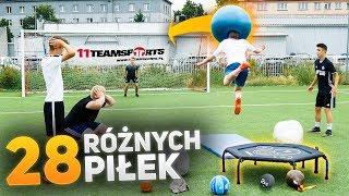 Strzały z trampoliny 28 różnymi piłkami! | PNTCMZ