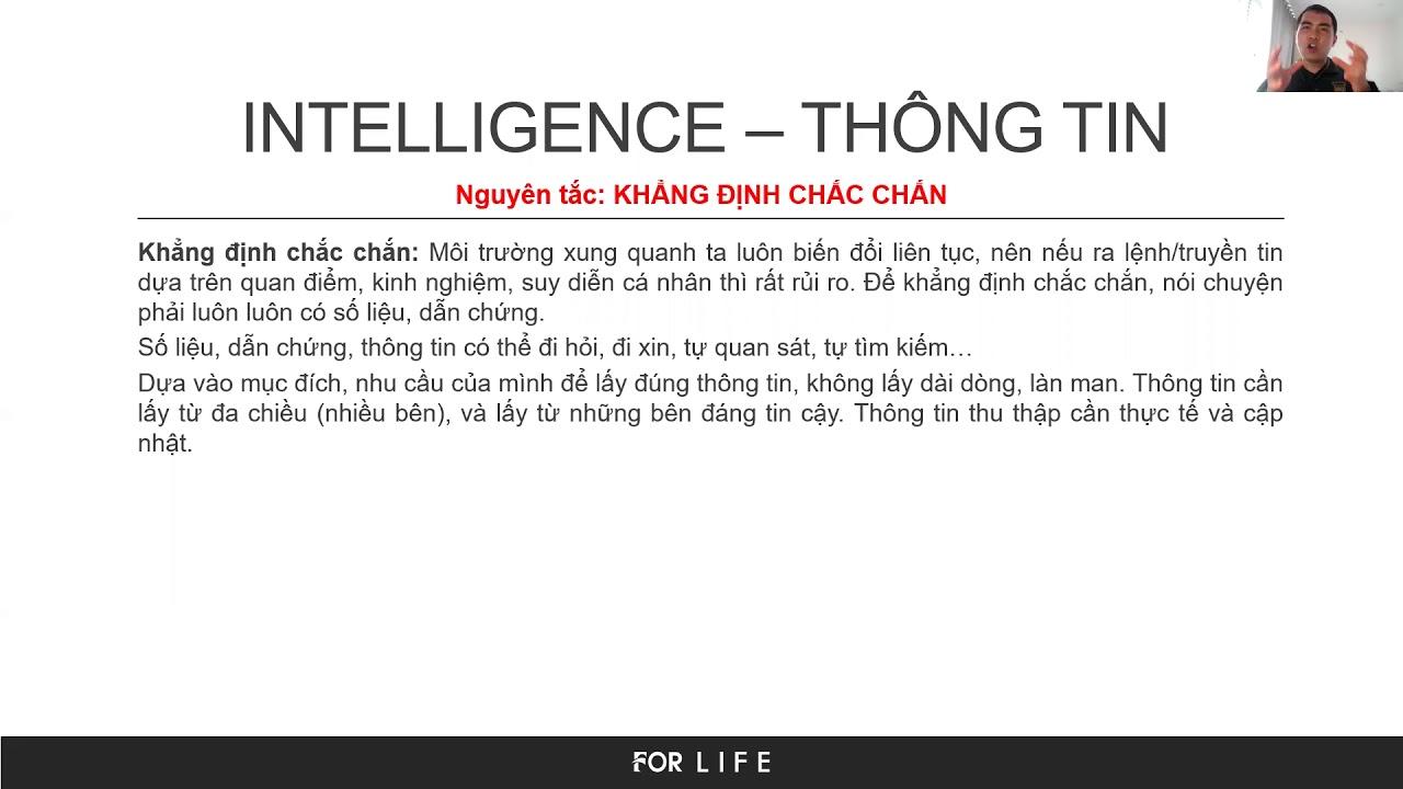[ForLife] C4I ứng dụng_Phần 6/6_Intelligence: Thông tin