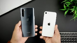 OnePlus Nord vs iPhone SE Speed Test Comparison   SD 765G vs Apple A13 Bionic