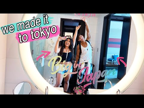 We Made It To Tokyo!! Flying First Class + Hotel Room Tour