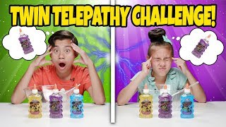 TWIN TELEPATHY SLIME CHALLENGE!!! Reading My Sister