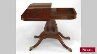 Antique American Federal Style (19th Cent) Mahogany Flip