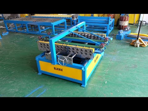 BLKMA Brand Duplex TDF flange forming machine , china hvac duct machines