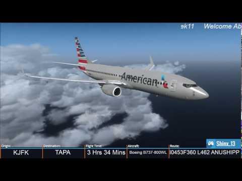 AAL978 Approach & Landing TAPA (Antigua) [Vatsim] [FSX]