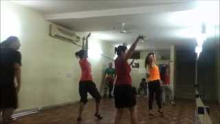 dance and fitness academy delhi (step up delhi) bruna abdullah rehearsal with dance squad dance r