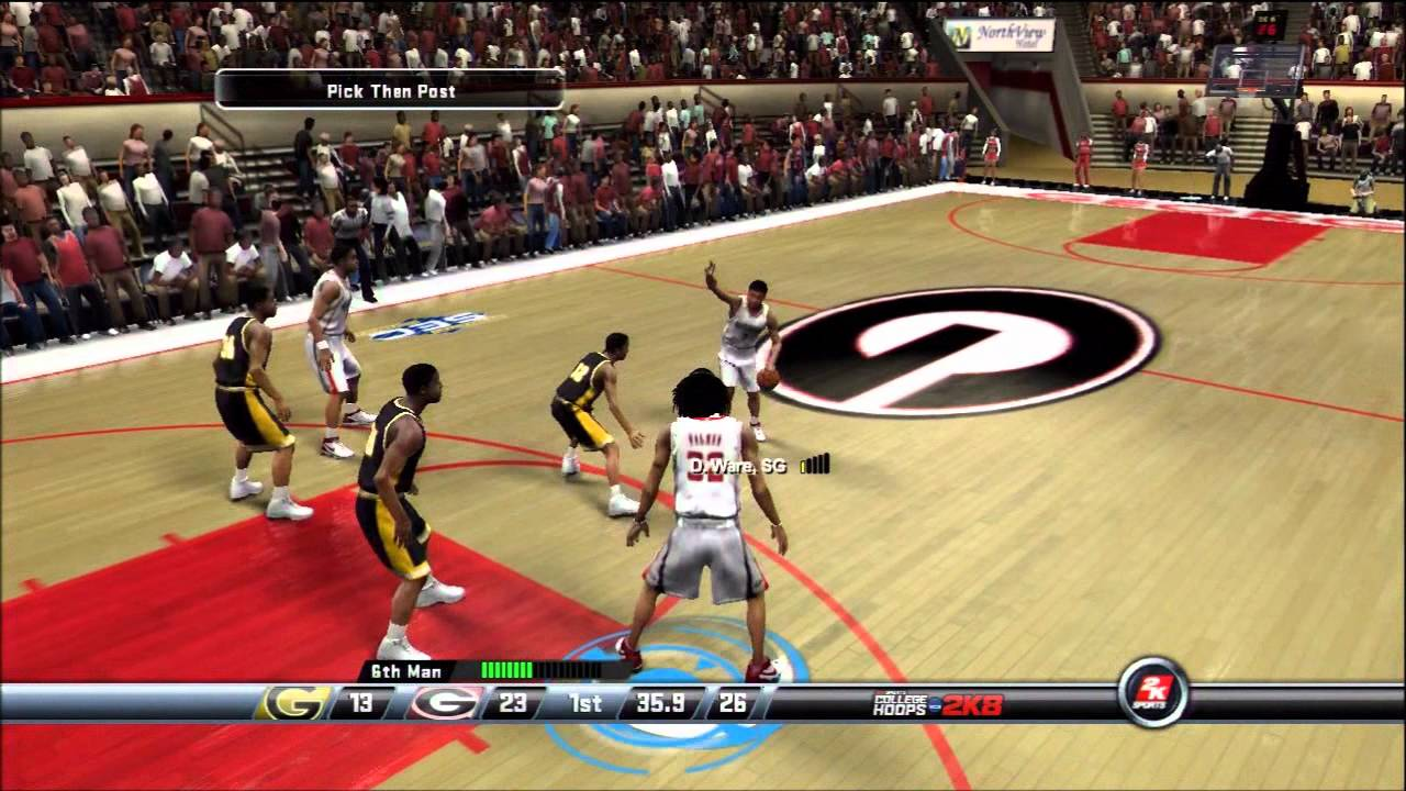 College Hoops 2k8 My Player Uga Game 2 Road To The Nba Youtube