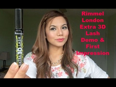 c0d544132e0 Rimmel London Extra 3D Lash Mascara (Demo & First Impression) - YouTube