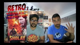 Amitabh Bachchan - Sholay 1975 Retro Trailer Reaction
