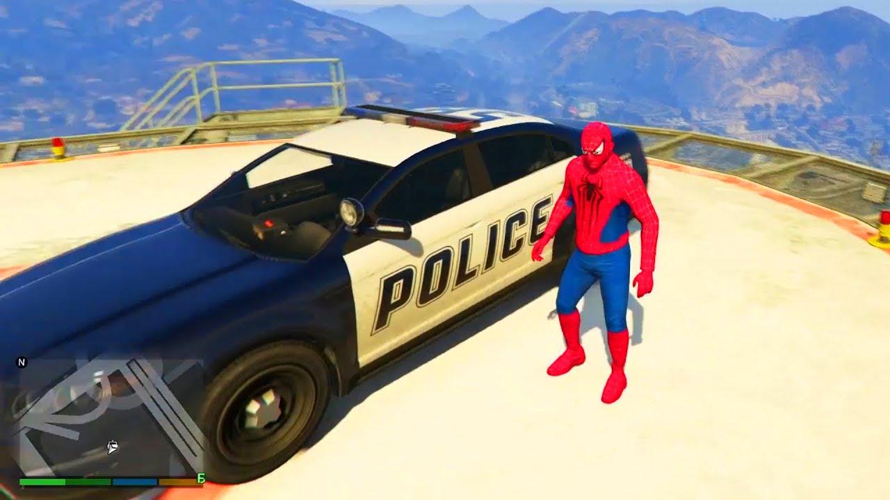 Spider man conduit voiture de police youtube - Spiderman voiture ...