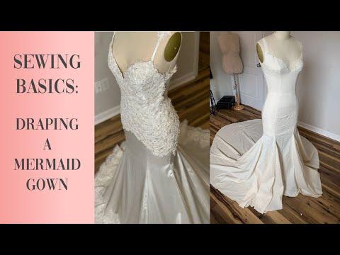 how-to-drape-a-mermaid-dress-|-diy-wedding-dress