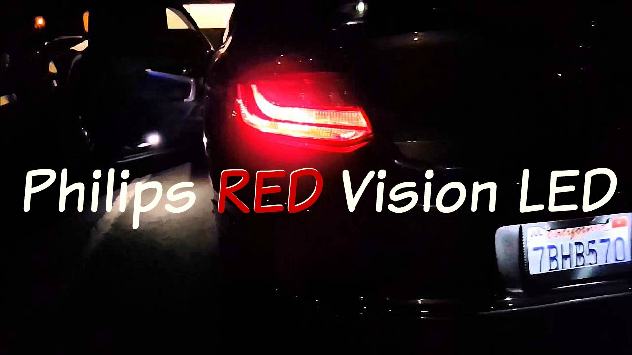 Product Review and Comparison: 7443 Philips RED Vision LED Taillight Brake  Bulb