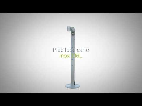 Pied tube carre inox
