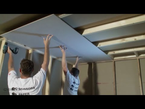 how-to-install-plasterboard-part-3:-ceilings-and-walls
