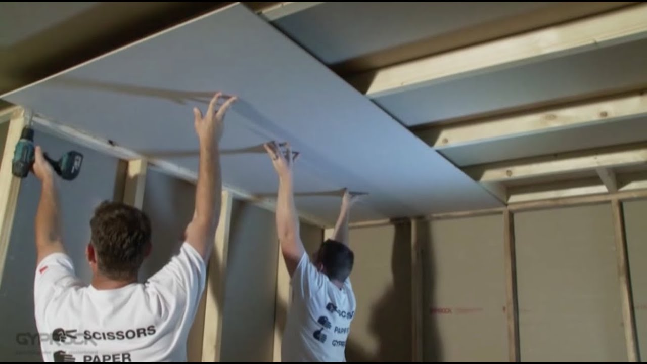 How to Install Plasterboard Part 3: Ceilings and Walls ...
