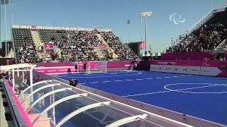 Football 5-a-side - BRA versus FRA - Men's Preliminaries Pool B - London 2012 Paralympic Games