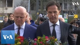 Dutch Prime Minister Rutte Visits Utrecht Shooting site, Lays Flowers thumbnail