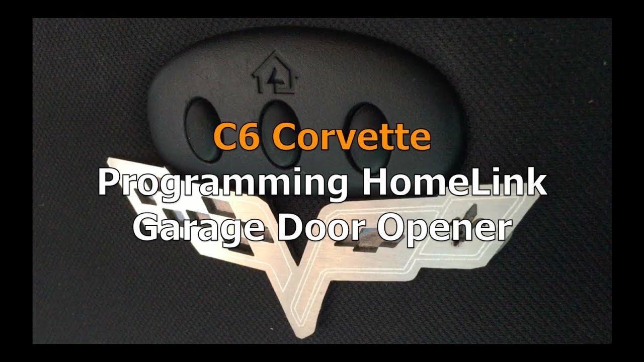 C6 Corvette Programming HomeLink Garage Door Opener - YouTube