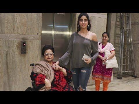 Janhvi Kapoor WATCHES Dhadak With Sridevi's Mother | Janhvi With Grandmother