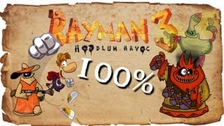 Rayman 3: Hoodlum Havoc - FULL 100% Walkthrough - ALL Cages [1080p]
