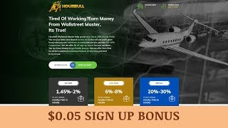 HourBull LTD (HourBull.com) отзывы 2019, обзор, earn Up to 20% Hourly Profit + BOUNTY
