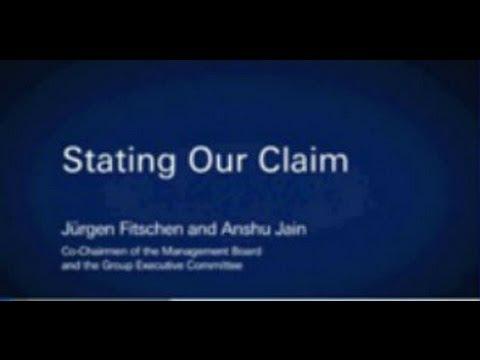 Juergen Fitschen and Anshu Jain State their Claim